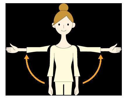 5:腕を外側に動かす
