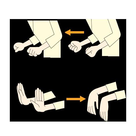 8:前腕の回転・手首の運動